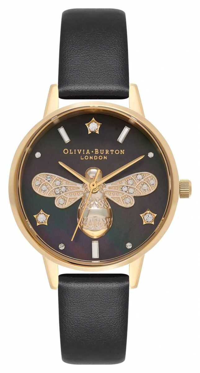 Olivia Burton Sparkle Bee Midi Black And Gold OB16GB08