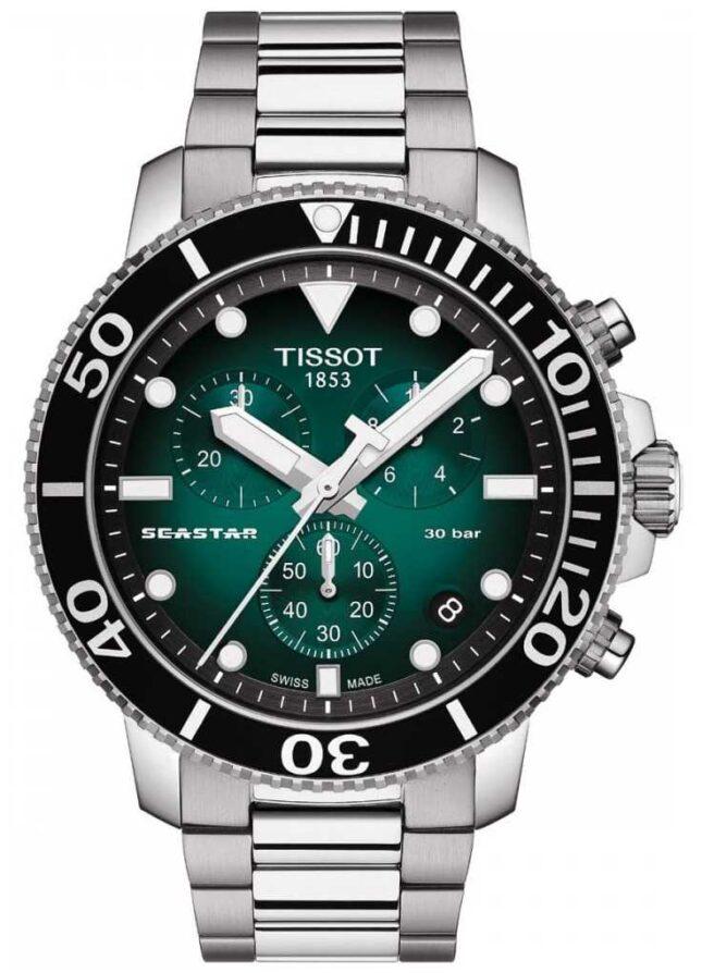 Tissot Seastar 1000 | Chronograph | Green Dial | Stainless Steel T1204171109101