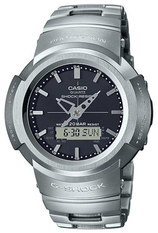 Casio G-Shock | Full Metal Bracelet | Black Dial | Radio Controlled AWM-500D-1AER