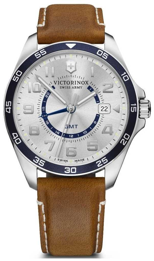 Victorinox Swiss Army | FieldForce GMT | Brown Leather Strap | Silver Dial | 241931