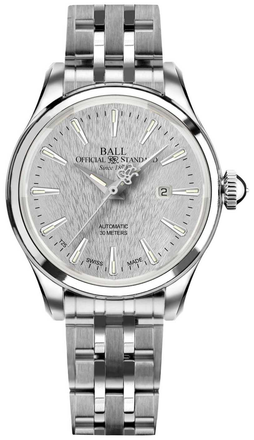 Ball Watch Company Trainmaster Eternity Ladies Blue Dial Stainless Steel NL2080D-SJ-SL