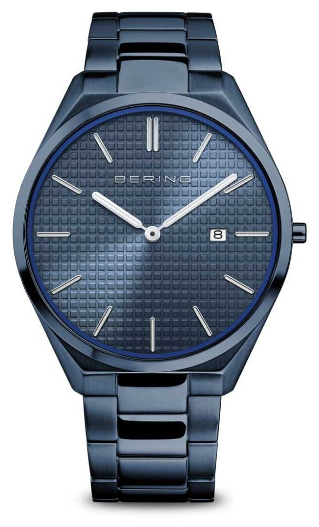 Bering Ultra Slim | Men's | Polished/Brushed Blue | Blue Dial 17240-797