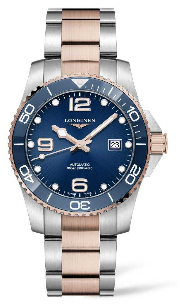 Longines Men's HydroConquest Two Tone Blue Dial L37813987