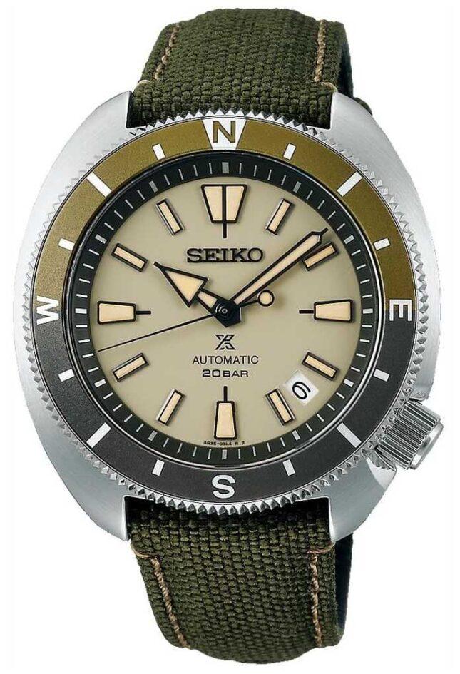 Seiko Prospex   'Tortoise' Land Edition   Green Strap SRPG13K1