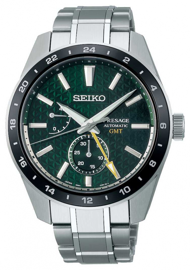 Seiko Presage Sharp Edged GMT Green Dial SPB219J1