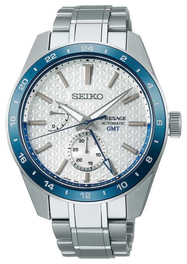 Seiko Presage Sharp Edged GMT: Limited Edition 140th Anniversary SPB223J1