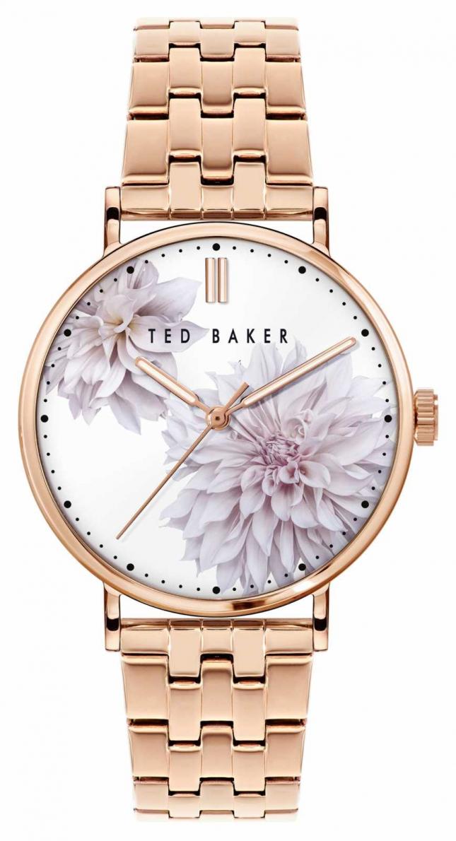 Ted Baker Phylipa | Floral Dial | Rose Gold Strap BKPPHS120
