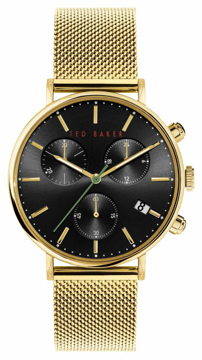 Ted Baker Minosa | Black Dial | Gold Strap BKPMMS118