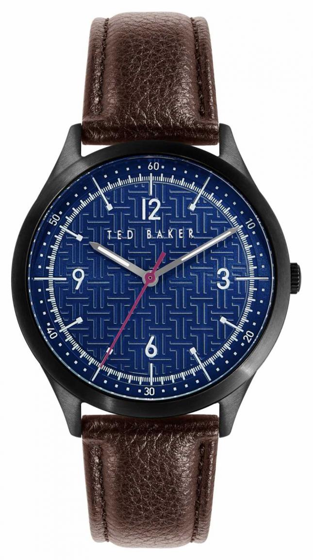 Ted Baker Manhatt | Blue Dial | Brown Leather Strap BKPMHS114
