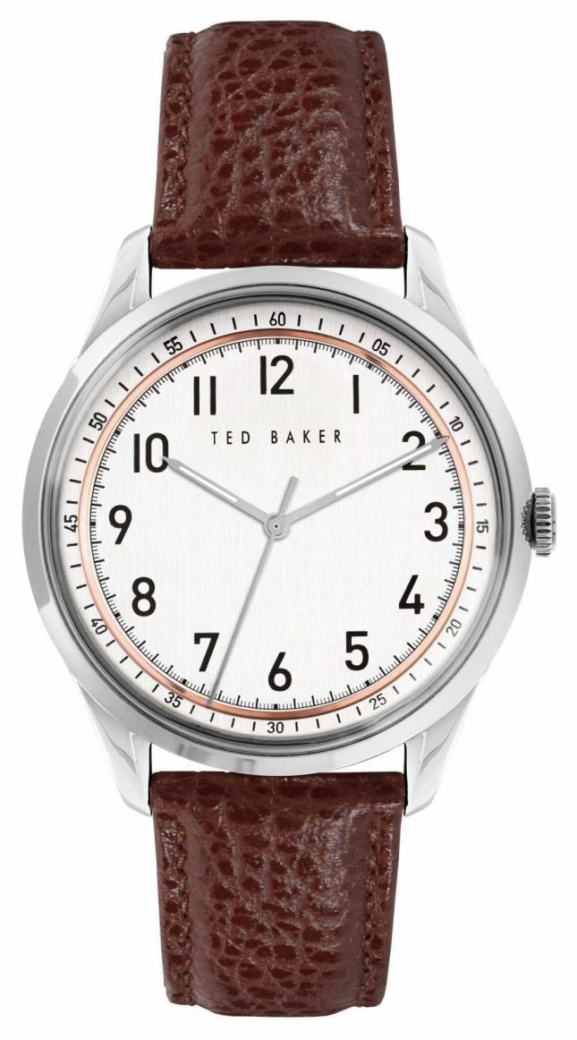 Ted Baker DAQUIR | White Dial | Brown leather Strap BKPDQS109