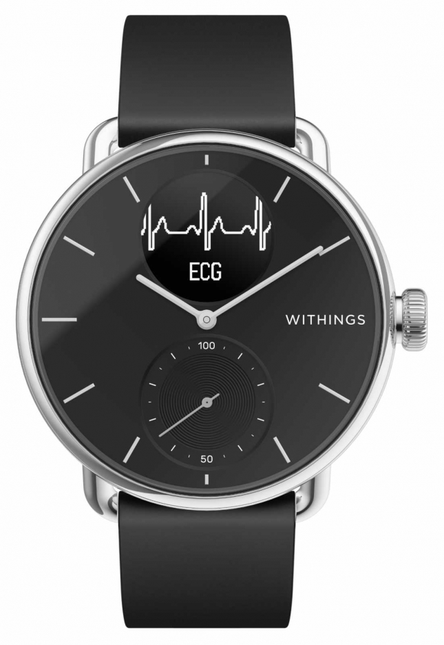 Withings Scanwatch 38mm Black – Hybrid Smartwatch with ECG HWA09-MODEL 2-ALL-INT