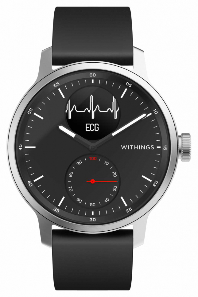 Withings Scanwatch 42mm Black – Hybrid Smartwatch with ECG HWA09-MODEL 4-ALL-INT