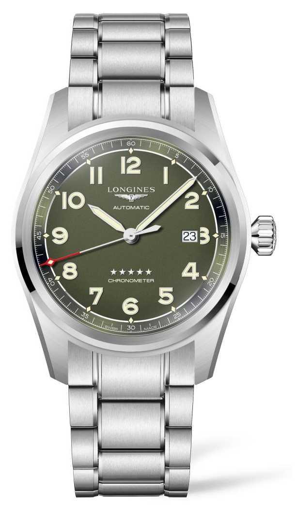 Longines Spirit Matt Green Dial Stainless Steel Bracelet L38114036