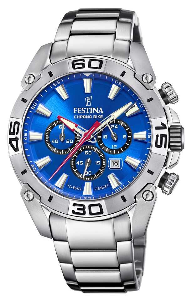 Festina Chronobike 2021   Blue Dial   Stainless Steel Bracelet F20543/2