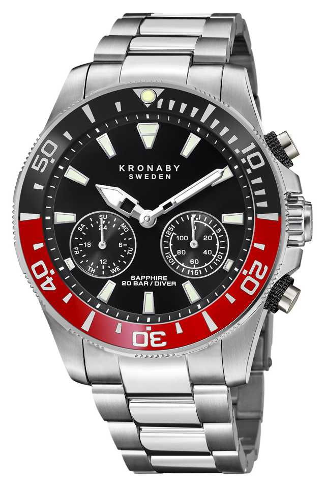 Kronaby Diver Collection | Bluetooth | Black Dial | Stainless Steel S3778/3