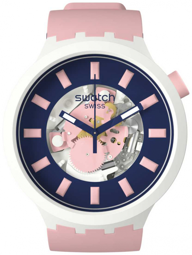 Swatch DIVERSPINK | Big Bold Bioceramic | Pink Strap SB03M105