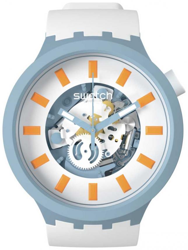 Swatch BLITE | Big Bold Bioceramic | White Strap SB03N101