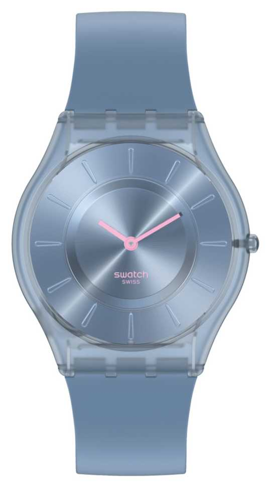 Swatch DENIM BLUE | Skin Classic | Silicone Strap SS08N100