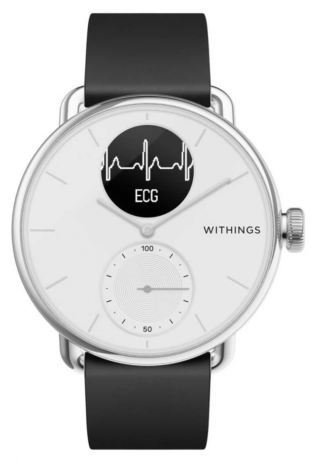 Withings Scanwatch 38mm White – Hybrid Smartwatch with ECG HWA09-MODEL 1-ALL-INT