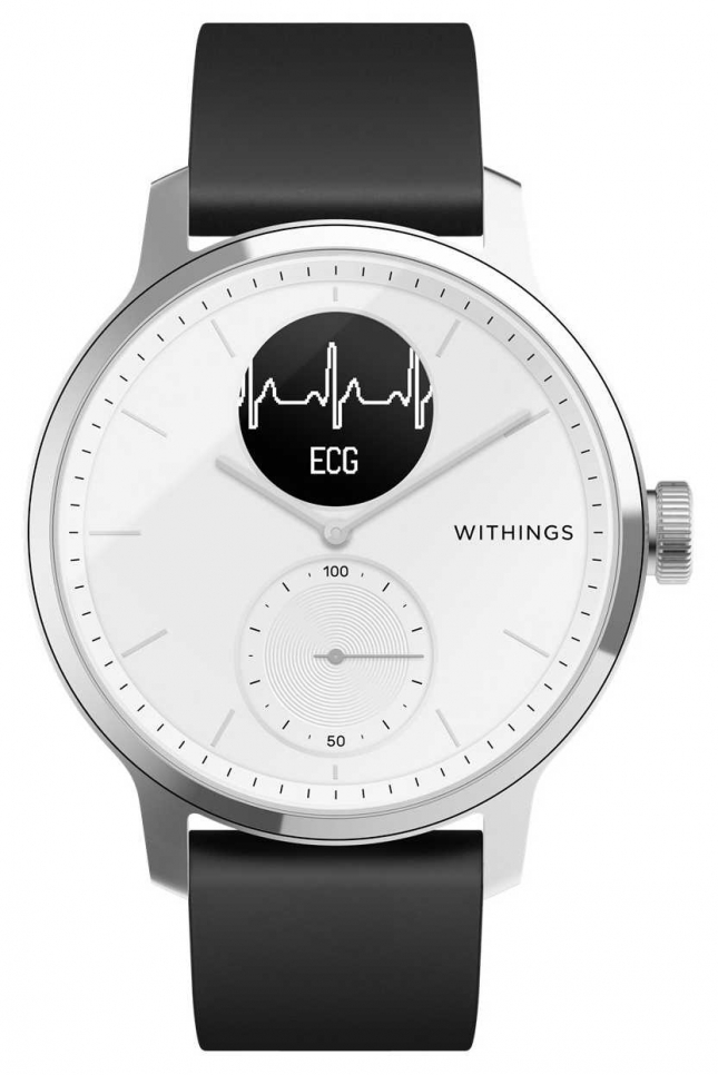 Withings Scanwatch 42mm White – Hybrid Smartwatch with ECG HWA09-MODEL 3-ALL-INT