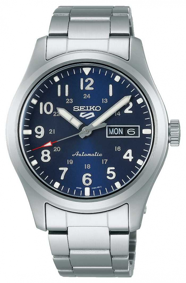 Seiko 5 Sports Field Blue Dial Stainless Steel Bracelet SRPG29K1