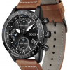 BOSS Mens | Pilot Edition | Chrono | Black Dial | Brown Leather 1513851