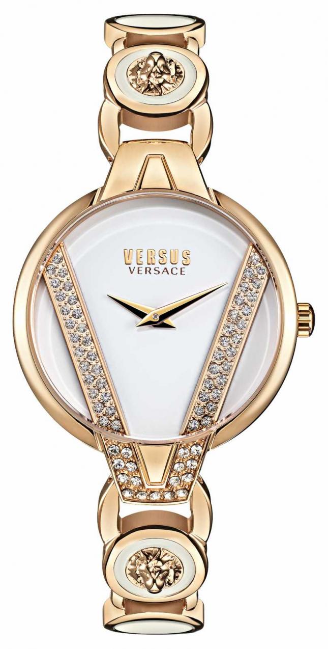 Versus Versace Saint Germain Petite Crystal Set Watch VSP1J0221