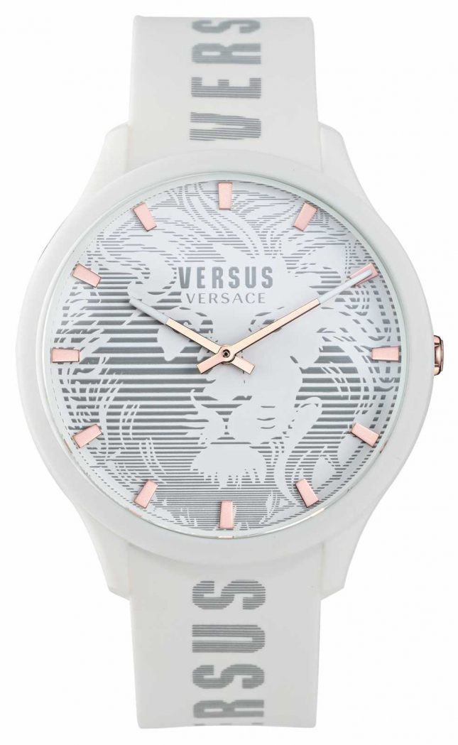Versus Versace Men's Domus White Silicone Strap Watch VSP1O0421