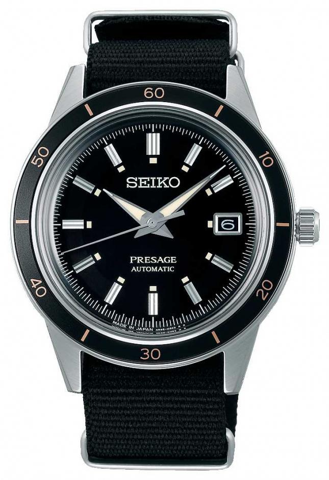 Seiko Seiko Presage Style 60s Black Nylon Strap SRPG09J1