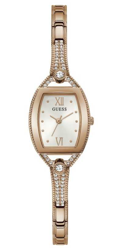 Guess Women's Bella | Rose Gold Plated Steel Bracelet | White Dial GW0249L3