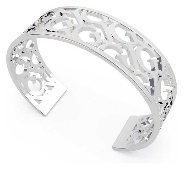 Guess All About Logo |  18mm Pattern Silver Bangle UBB70092-L
