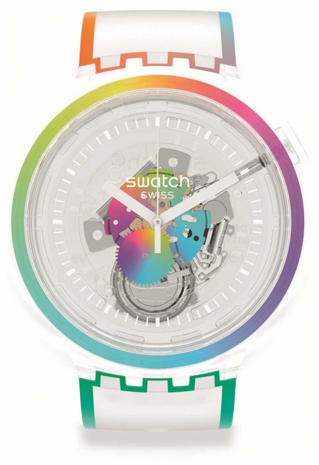 Swatch Big Bold | LET'S PARADE | Rainbow Case SO27E107