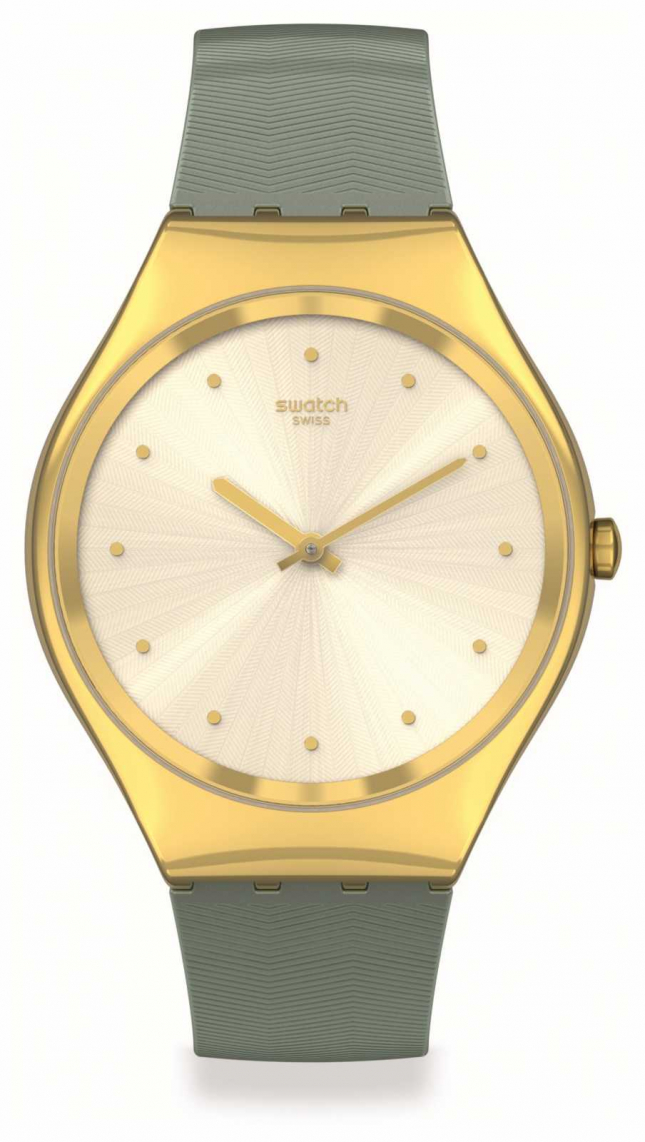 Swatch Skin Irony   GREEN-MOIRE   Gold Case SYXG113