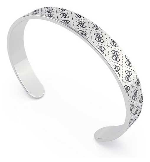 Guess Golden Hour | 8mm Pattern Silver Bangle UBB70141-L