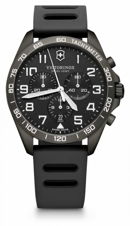 Victorinox Swiss Army Fieldforce Sport Chrono Black Rubber Strap 241926.1