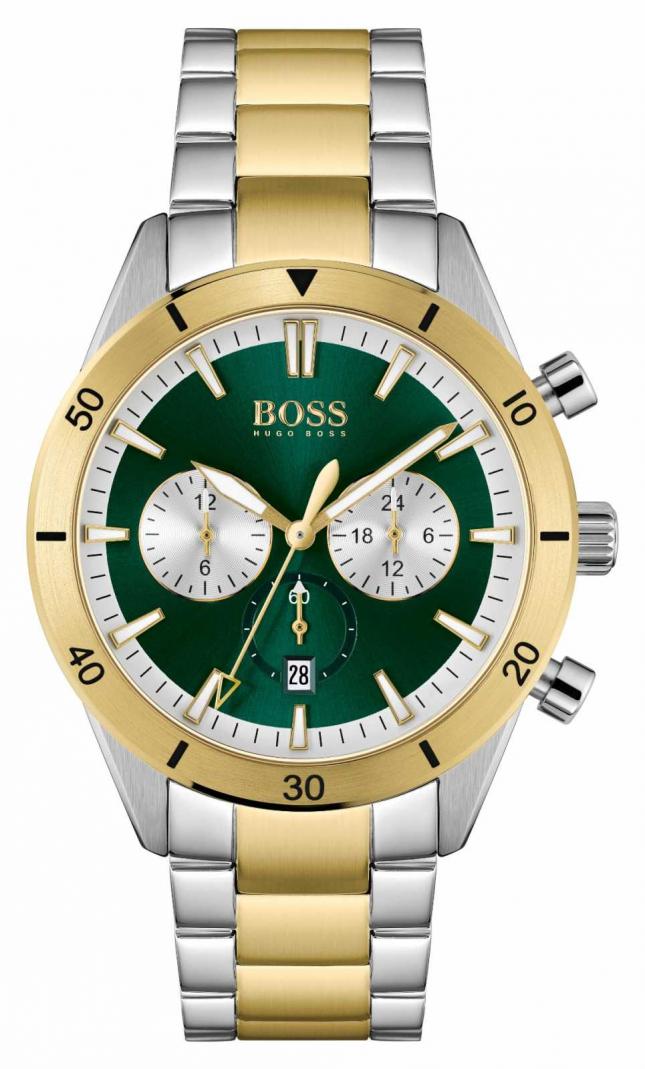 BOSS Men's Santiago Green Dial 1513872