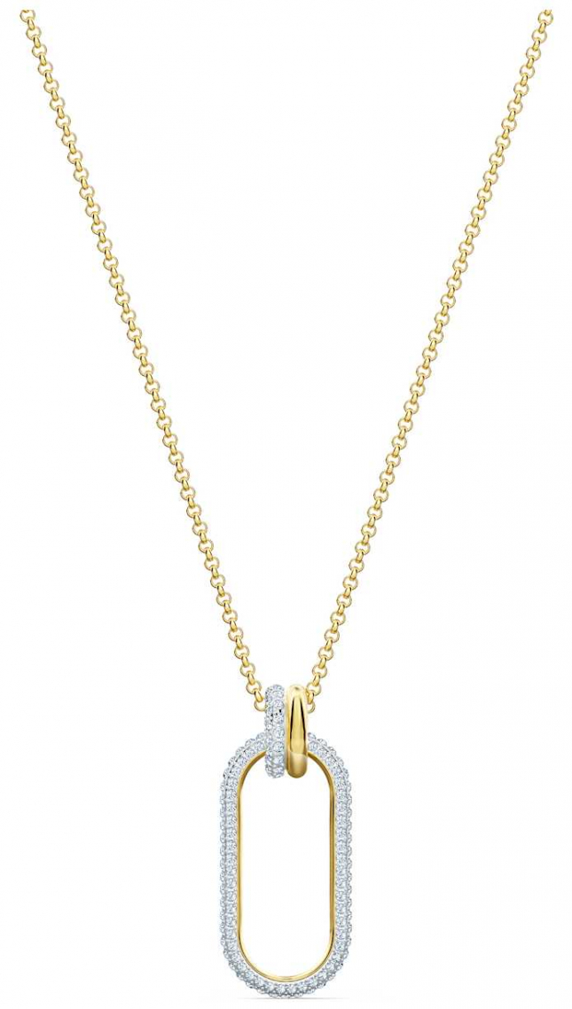 Swarovski Time Pendant | Necklace | White | Mixed Metal Finish 5560715