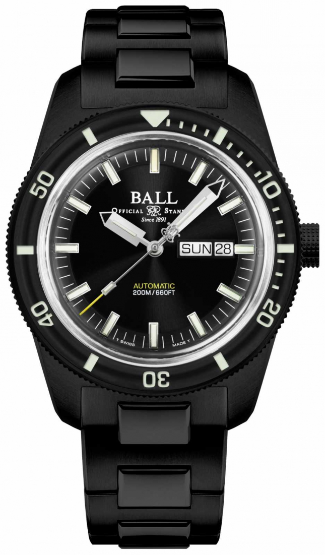 Ball Watch Company Engineer II | Skindiver Heritage | Auto | TiC Black Coating DM3208B-S4-BK