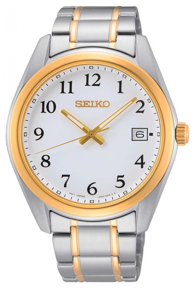 Seiko Dual-Colour Yellow Gold and Silver Stainless Steel Watch SUR460P1