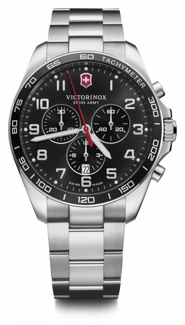 Victorinox Swiss Army | FieldForce | Classic Chrono | Stainless Steel Bracelet | Black Dial | 241899