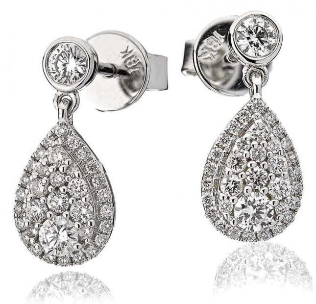 18ct White Gold Earrings 0.70ct Diamond (G SI1) BJE0036