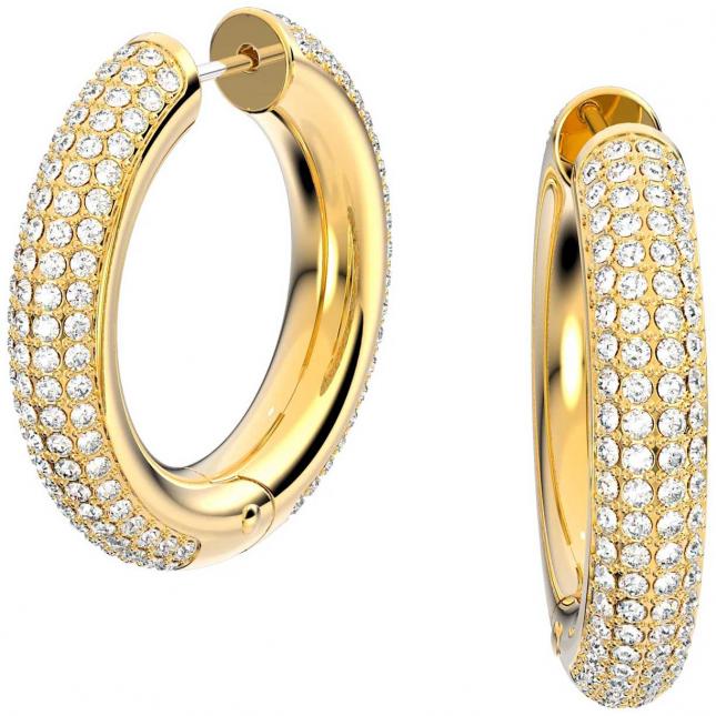 Swarovski Dextera | Hoop Earrings | Gold-Tone | White 5618305