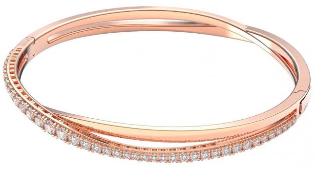 Swarovski Twist | Bracelet | Rose Gold -Tone Plated | White 5620552