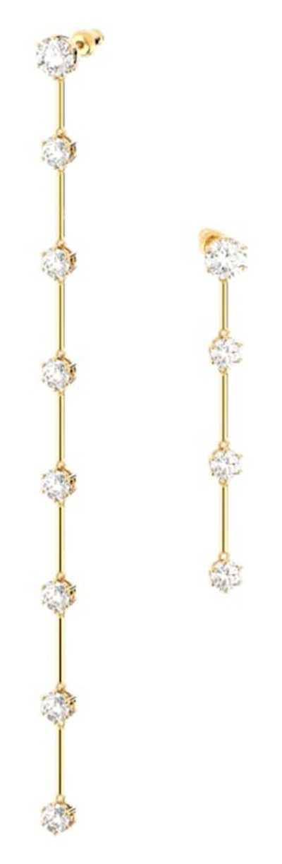 Swarovski Constella | Drop Earrings | Gold-Tone Plated | White 5622721