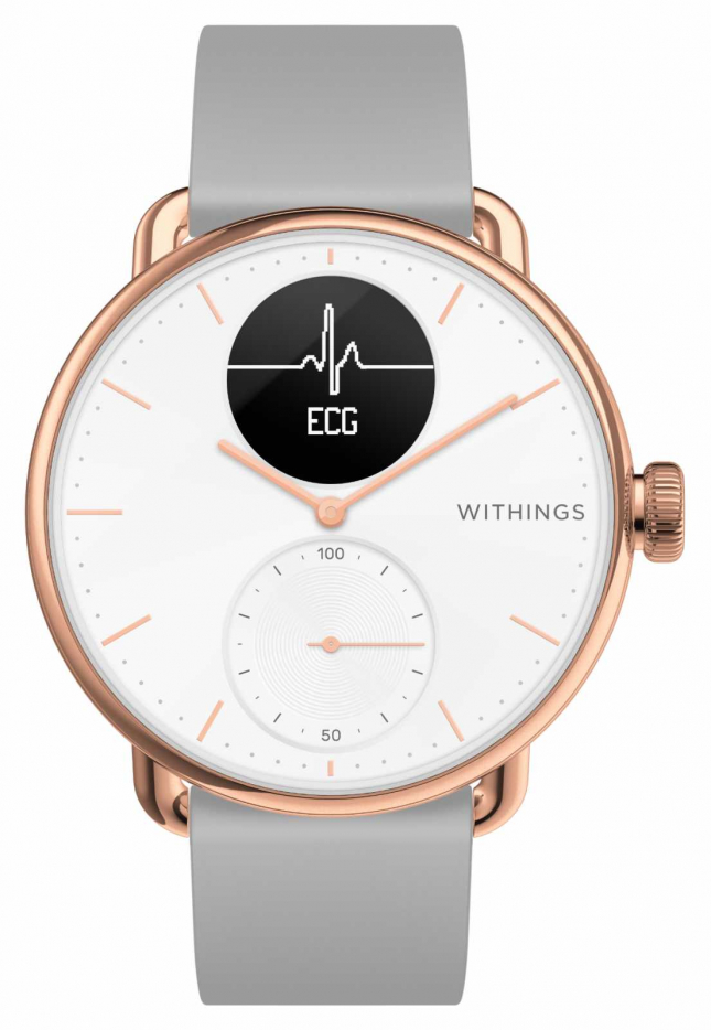 Withings Scanwatch 38mm Rose Gold Hybrid Smartwatch With ECG HWA09-MODEL 5-ALL-INT