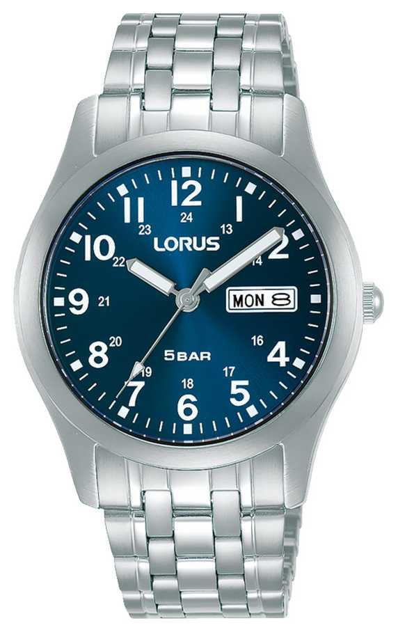 Lorus Classic 38 mm Quartz Watch Blue Dial RXN77DX9