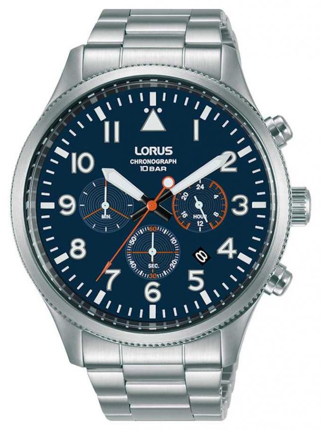 Lorus Chronograph Quartz Blue Dial Stainless Steel RT365JX9