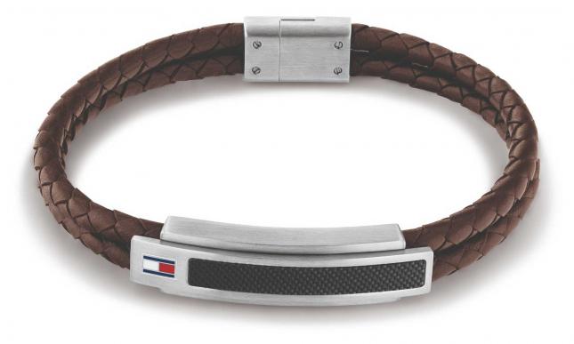 Tommy Hilfiger Pique Brown Leather Bracelet 2790355