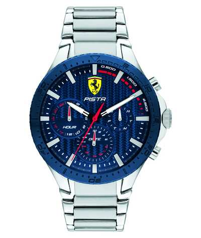 Scuderia Ferrari | Pista Dual Track | Blue Textured Dial | 0830855