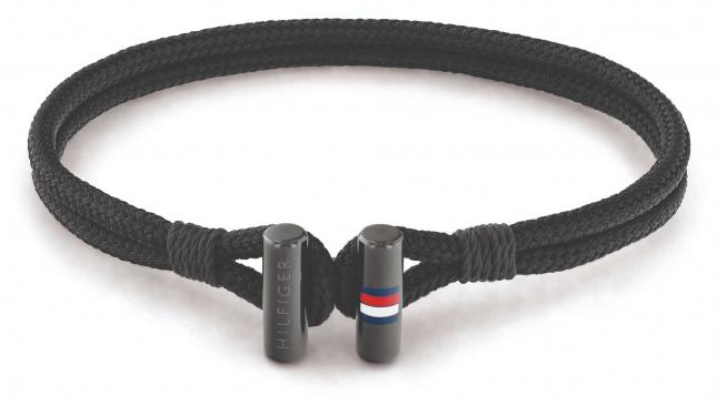 Tommy Hilfiger Men's Nylon Black Bracelet 2790336